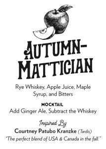 Autumn-Mattician Recipe